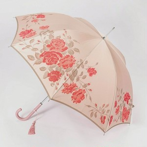 槙田商店 【晴雨兼用】絵おり 薔薇(バラ)薄ピンク