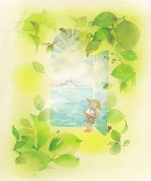 ポストカード3枚セット【P-5 夏への扉】1枚+他のカード2枚