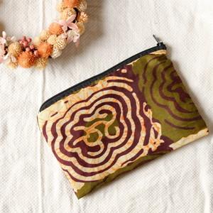 マラウィ産 アフリカ布のポーチ 01 【送料無料】