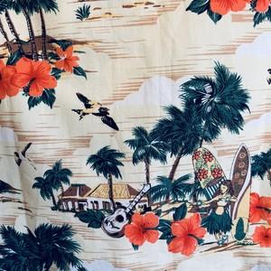 フラガール&サーフィンのキッズアロハシャツ