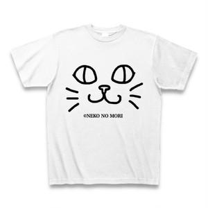 【送料込】ねこのもりオリジナル キャットフェイスTシャツ にっこり猫