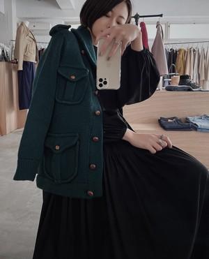 """Ralph Lauren"" vintage knit cardigan - green -"