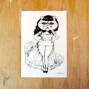 ポストカード150「マダムキャット」 pc-150 36