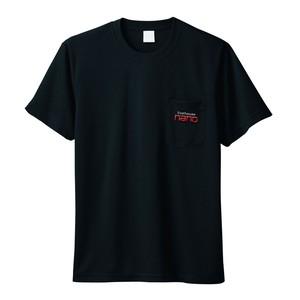 ポケット付きTshirt【1ポイントnano刺繍ロゴ入り】黒 6.1oz(厚手)    Tshirt with Pocket [1 point nano embroidery logo included] Black 6.1oz (Thick)