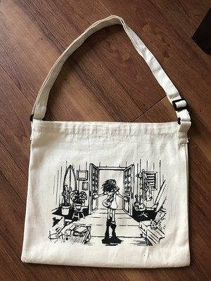 Kat Open Doors Canvas Shoulder bag