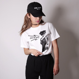 """Made in USA"" PINUP×PUG Tee(white)"