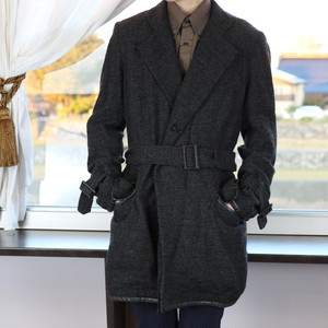 .Y's YOHJI YAMAMOTO TWEED BELTED COAT MADE IN JAPAN/ワイズヨウジヤマモトツイードベルテッドコート 2000000041001