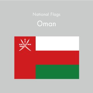 国旗ステッカー オマーン