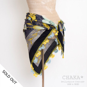 Oya Scarf/Light Blue×Yellow