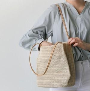 5814かごバッグ ショルダーバッグ レディース ストローバック 麦わら カバン 鞄 編みバッグ