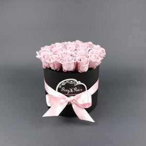 『Coffret de Rose (コフレ・ドゥ・ローズ)』ピンク-Size M(直径 約 15cm  高さ 約16cm  バラ本数 約20本)