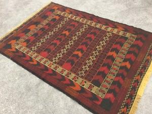 アフガニスタン ムシュワニバルーチ族 ウールキリム B201930