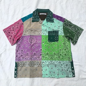 children of the discordance チルドレンオブザディスコーダンス / VINTAGE BANDANA PATCHWORK SHIRT SS / MIX