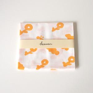 flying flower てぬぐい(オレンジ)