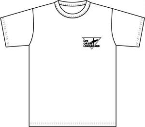 Life on the LongboadオリジナルTシャツ:デザインA(ホワイト)