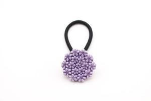 有田焼ヘアゴム flower 25 (濃紫)