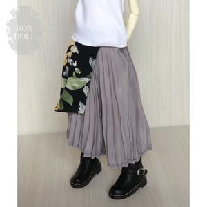 【40cmサイズ】とろみアシメスカート グレー