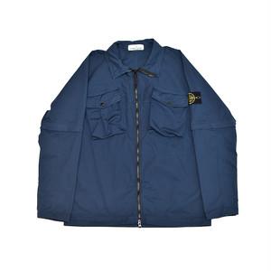 Stone Island Stretch Cotton Over Shirt Blue 701510802