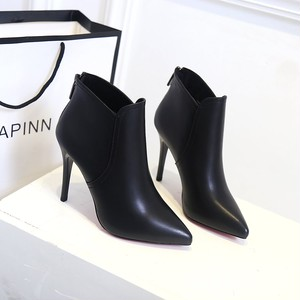 【boots】 2018 spring autumn new pointed-toe sexy Martin short boots