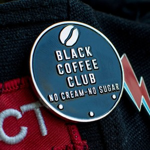 "MajorCrimesDivision""Black Coffee Club - No Cream So Sugar enamel pin"""