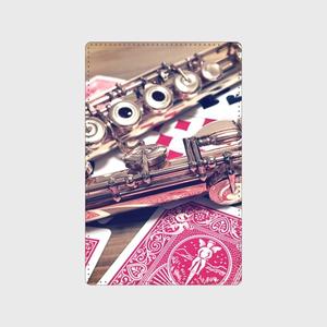 カードケース【フルート&トランプ柄】