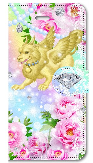 【iPhone5/5s/SE】 富貴の神獣 貔貅 PiXiu The Divine Animal of Abundance 手帳型スマホケース