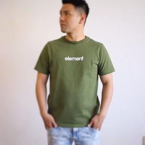 BA021-304 エレメント Tシャツ 半袖 メンズ 通販 おしゃれ かっこいい シンプル プレゼント 吸水速乾性 UV CUT グリーン M 綿 ポリエステル OLD FONT CAMP ELEMENT