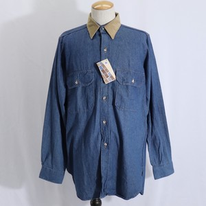 "80~90s "" FIVE BROTHER "" L/S Denim Shirts  Deadstock  80~90年代  ファイブブラザー  デニムシャツ A710"