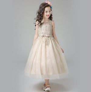 8487子供ドレス キッズドレス ベビードレス チュールドレス ジュニア 女の子ドレス フォーマルドレス レースワンピース