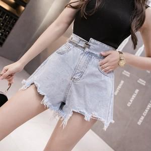 【bottoms】 ハイウエスト着痩せファッションショートパンツ27186331
