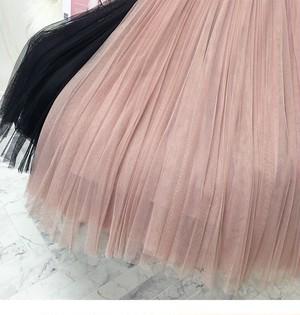 全4色ふんわりチュールフレアスカート