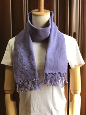 手織りマフラー(春夏向き)藤色