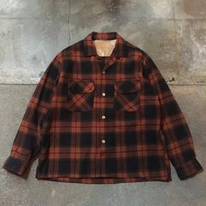 60s Wool Open Collar Shirt
