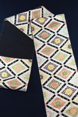 袋帯 西陣織 三重菱菊文