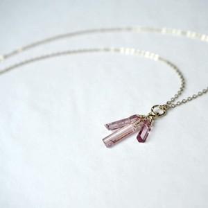 ピンクトルマリンの結晶ネックレス/14kgf/C/N10143
