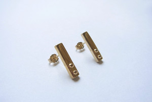 GOLD Stick Out Straight EARRINGS
