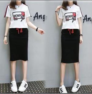大きいサイズ♡Tシャツ&スカート上下セット