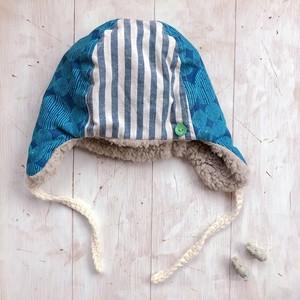 あったか冬帽子(大サイズ・54くらい)アオまる