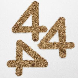 切り文字 A&Cペーパー ストーン 粘着付 数字「4」