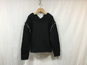 """HAKUJI """" Hand stitch knit """" Black"""