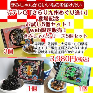 ☆テレQ『きらり九州めぐり逢い』登場記念お試し5個セット!WEB限定セット