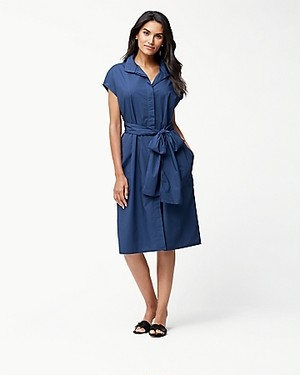 ISLAND POPLIN MIDI DRESS AF/ECLIPSE