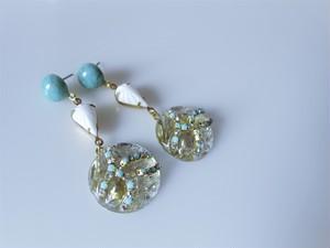 ターコイズ&アイスドロップピアス vintage earrings tq ice <PE3-0120>
