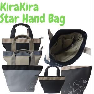 キラキラデコシリーズ ラインストーンで星柄をデザイン コンパクトで使いやすい 軽量タイプもオススメ 上品な仕上がり キラキラストーンスターハンドバッグ