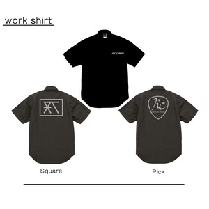 RC-logo ワークシャツ【BLACK 全2種】(work-shirt - 2types)