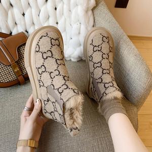 【shoes】チェック柄ファッション合わせやすいブーツ25523667