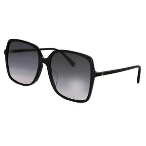 GUCCI レディース サングラス アジアンフィット モデル グッチ gg0544sa 001 スクエア ビック レンズ タイプ 型 黒縁 フレーム