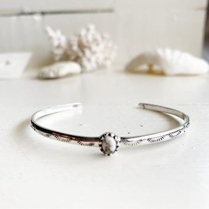 Houlite stamp bangle