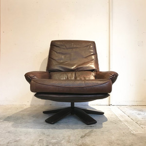 Vintage Leather Lounge Chair オランダ