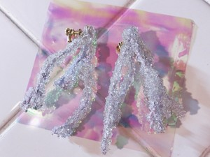 camouflage grass tree earring C